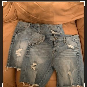 2 pairs Mossimo Boyfriend Jean Shorts size 6